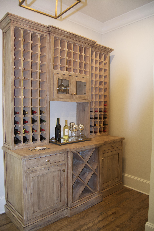 wine storage custom white oak
