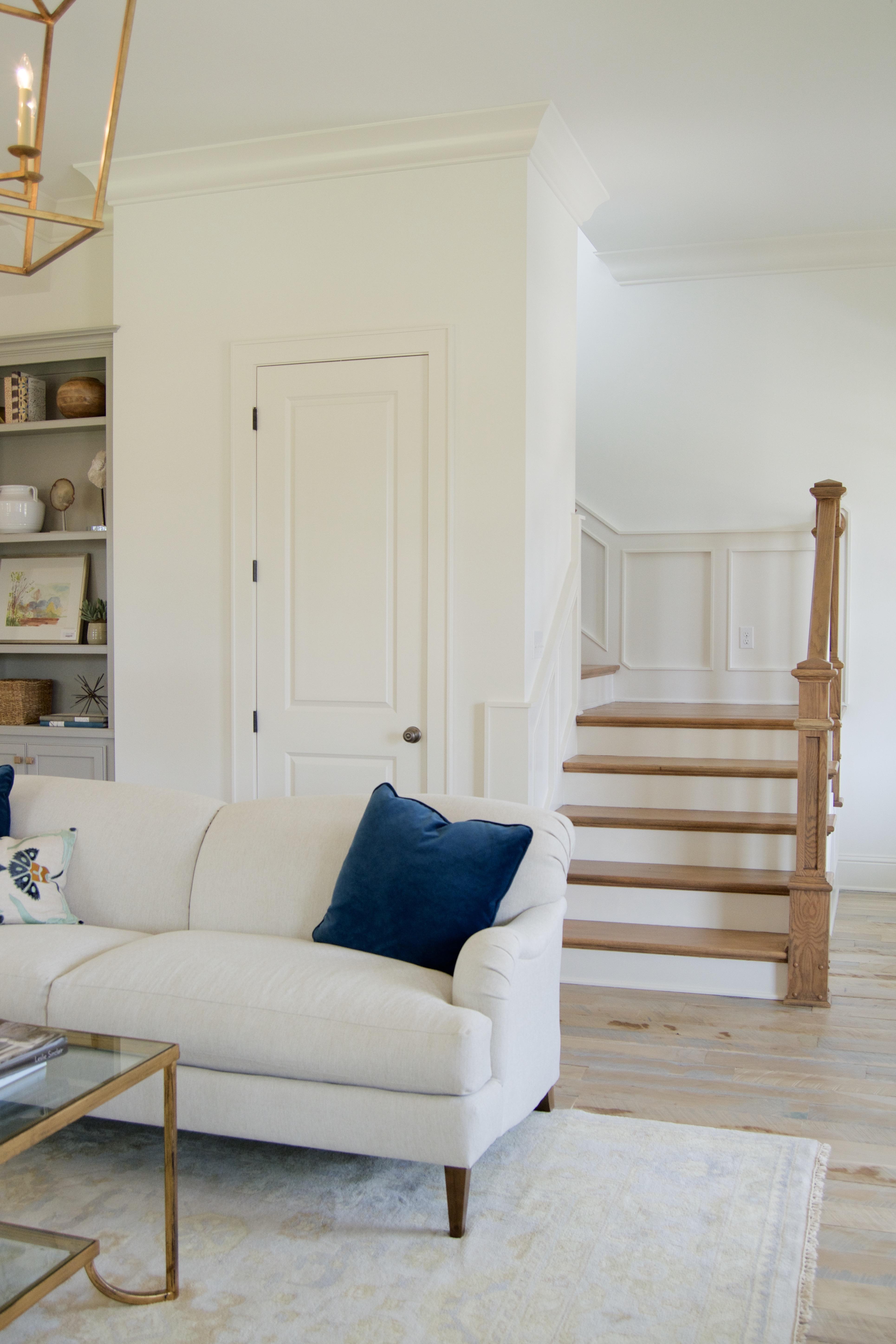 white oak stair tread reclaimed white washed floors