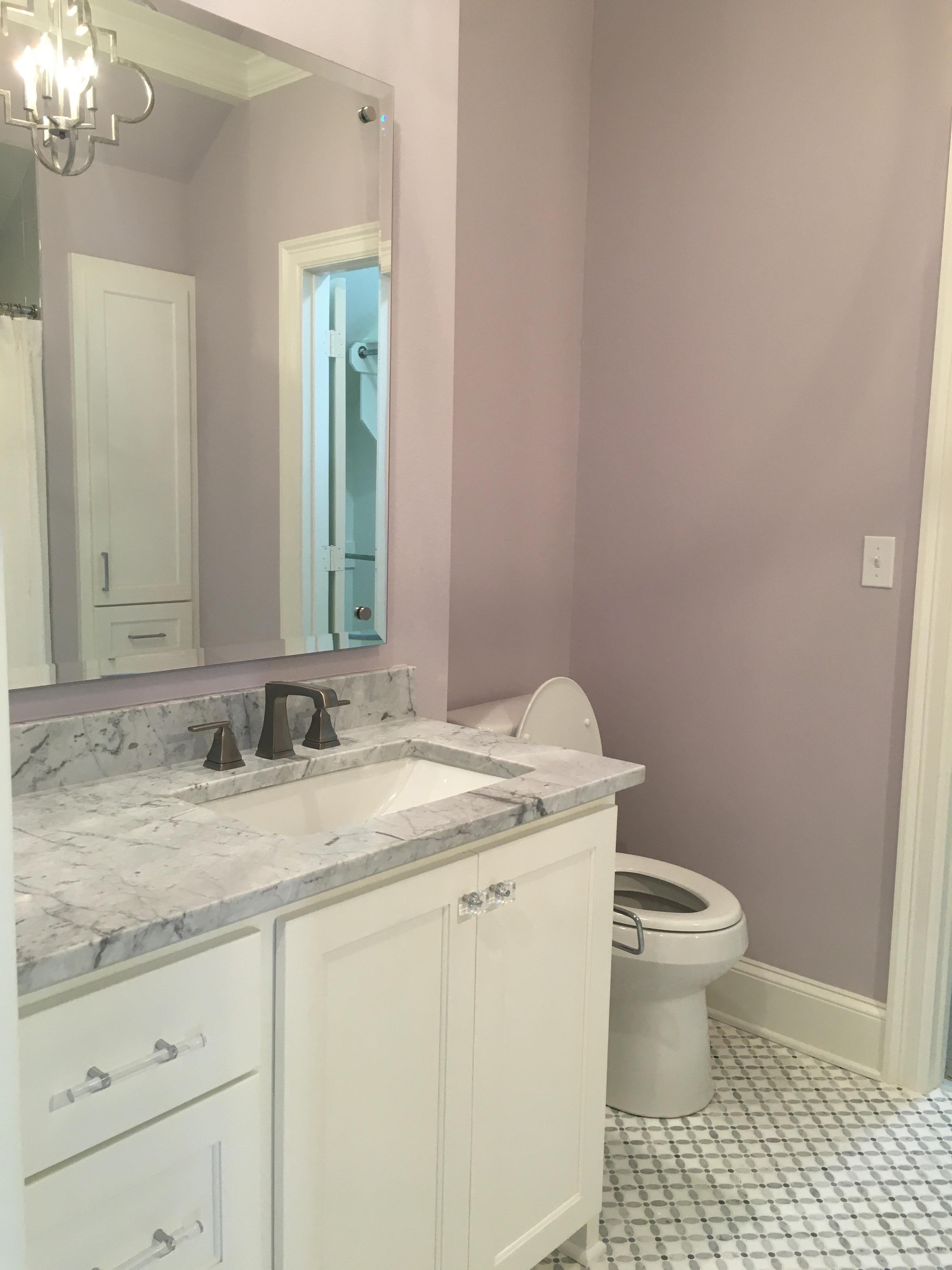 Little girls bathroom purple violet lavender