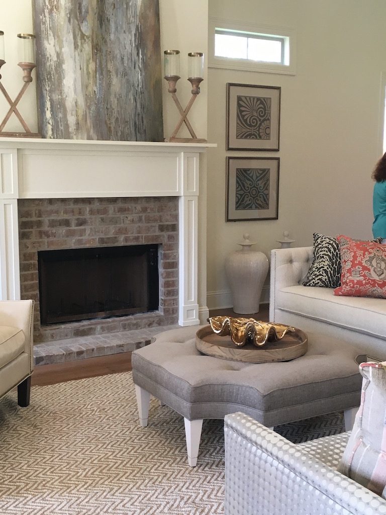 traditional transitional contemporary living room mantle decor