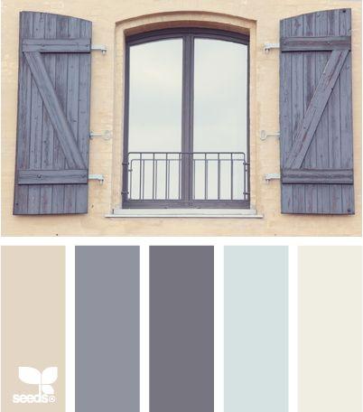 Mediterranean Grey Beige Blues