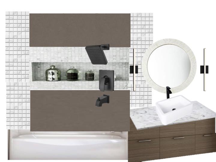 Dana Point Guest bath concept fish and arrow interiors