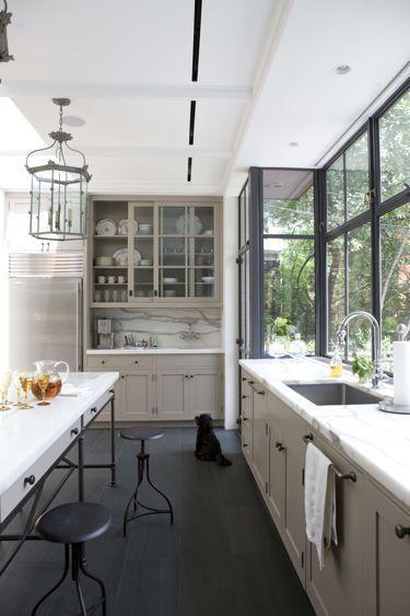 Taupe & Black kitchen gaww