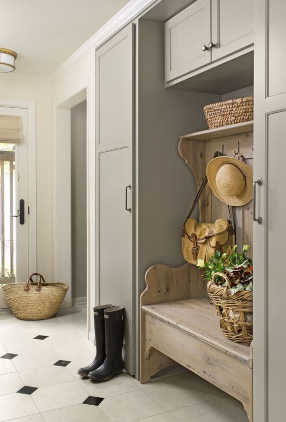Taupe Mudroom