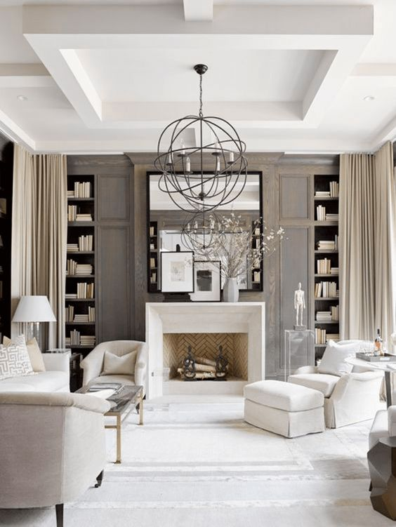 Traditional Glam living room