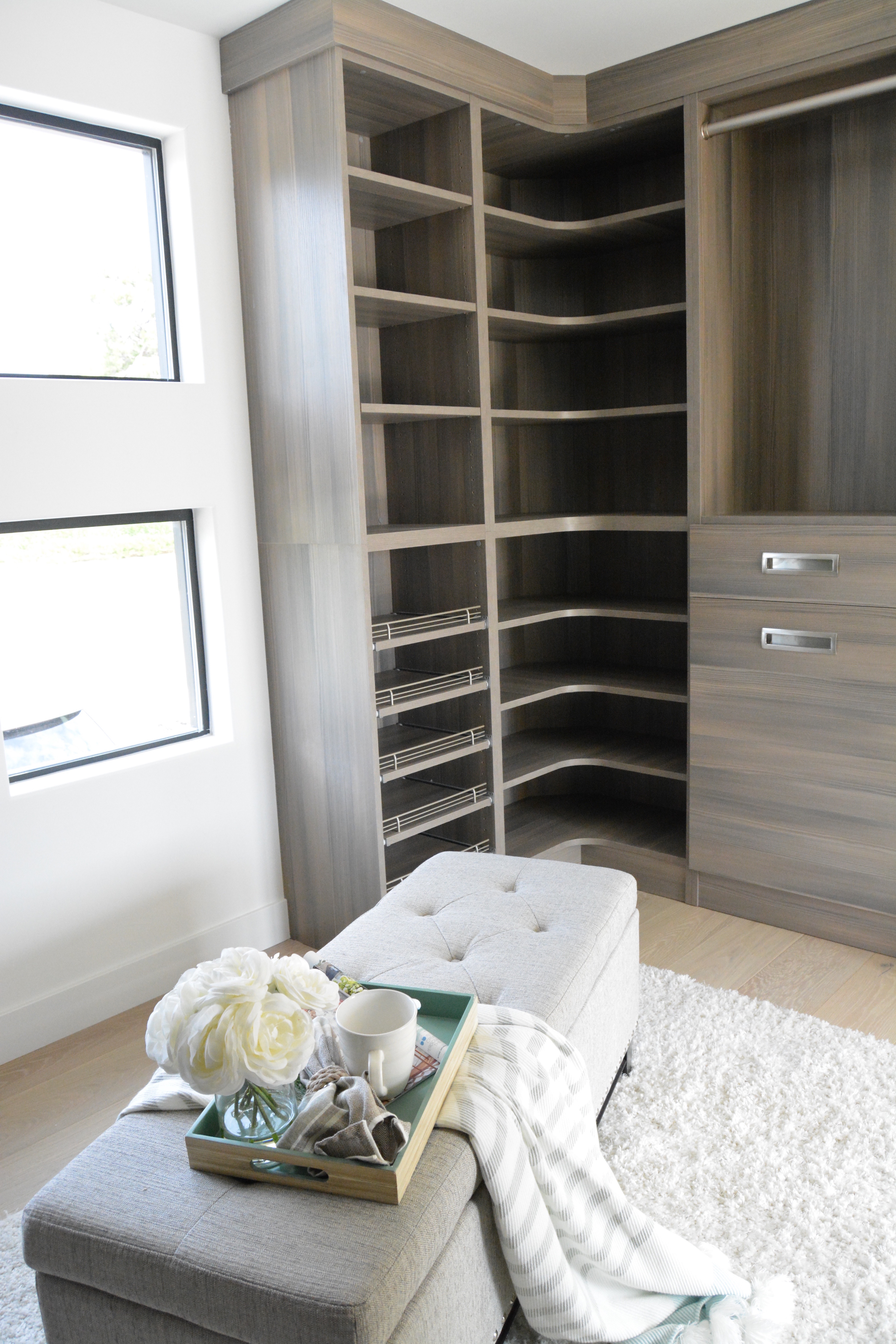 Modern closet built ins dana point fish and arrow interiors