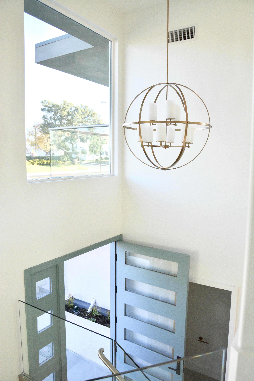 Brass Entry modern globe chandelier